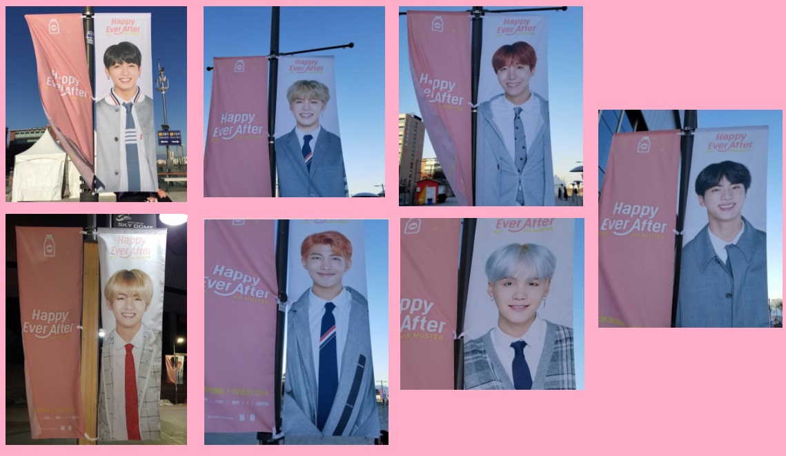 BTS 4TH MUSTER『Happy EVer After』の旗